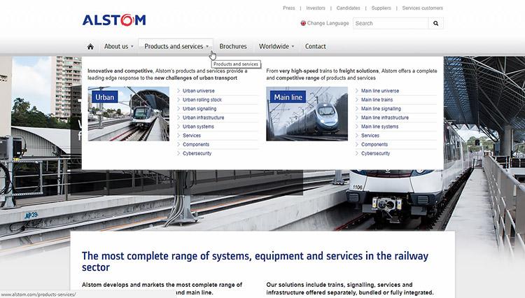Сайт для Alstom
