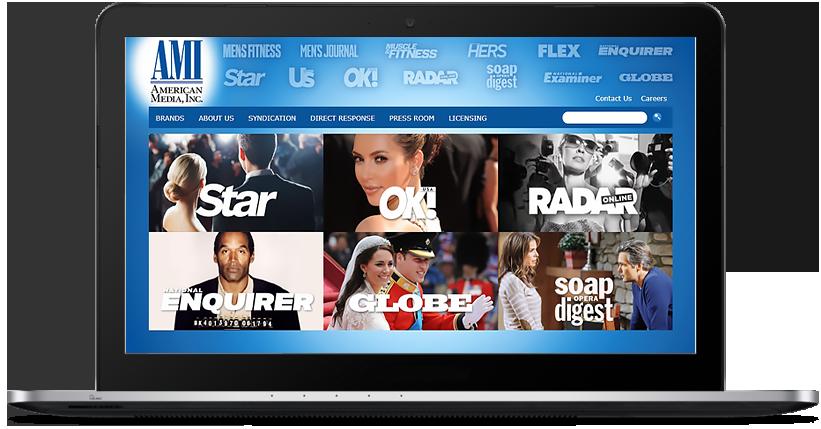 Сайт компании American Media