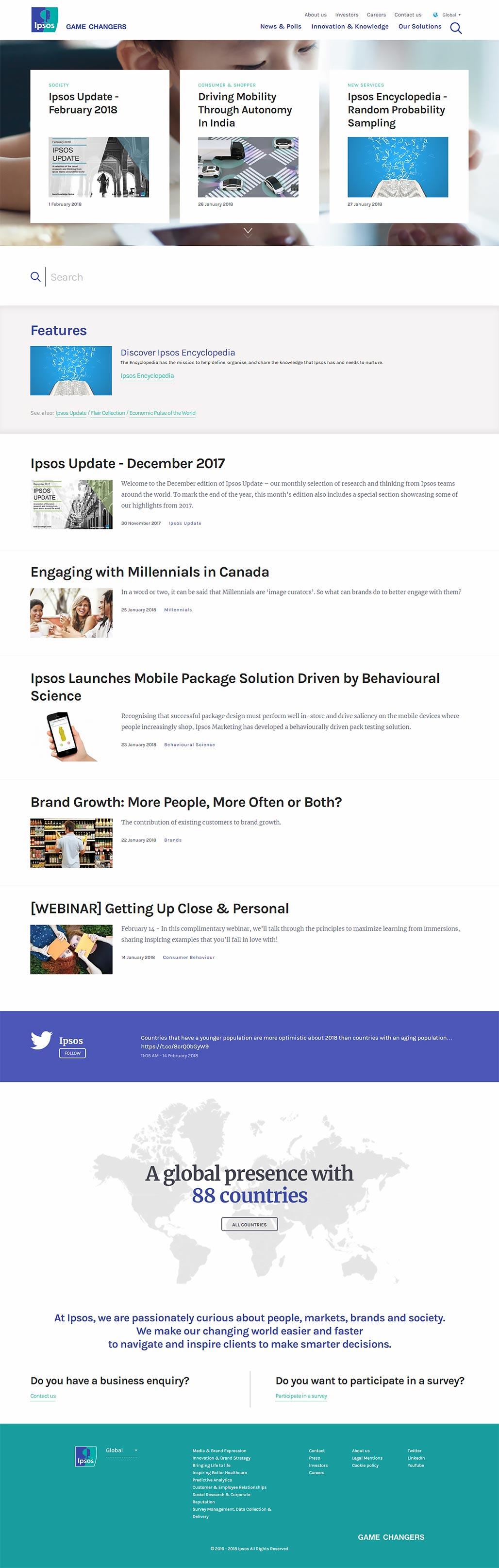 Сайт компании IPSOS