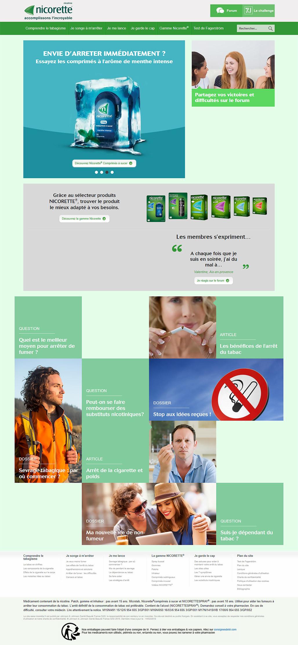 Сайт для Nicorette