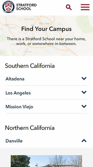 Сайт Stratford Schools