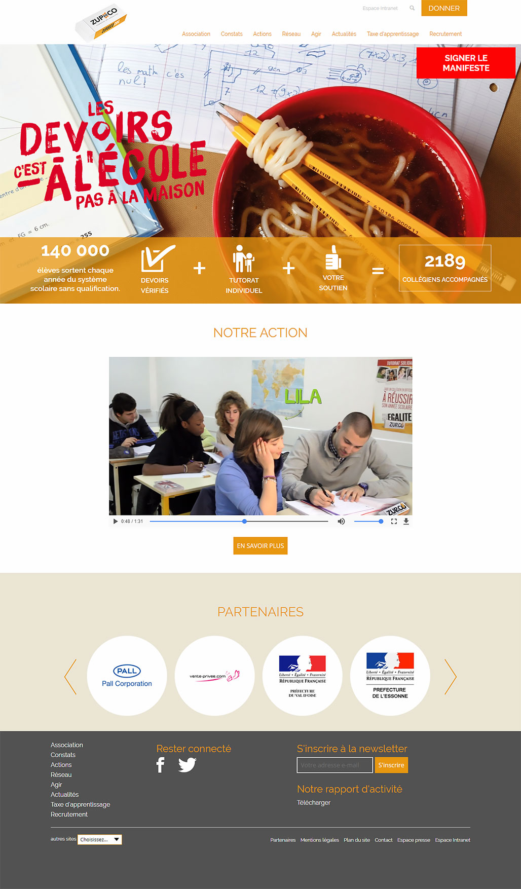 Сайт компании Zup de co